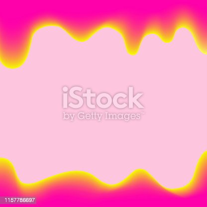 istock banner dripping paint pink cartoon style for background colorful, watercolor drips border, pink frame of dripping creamy liquid, cartoon frame pink beautiful template for banner poster and copy space 1157786697