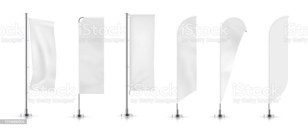 banner flag vector art illustration
