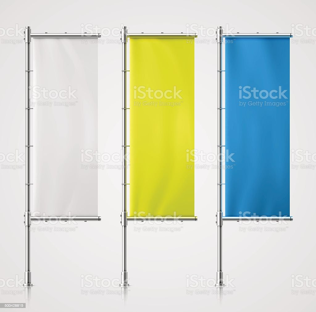 Banner Flag vector art illustration