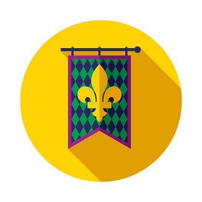 Banner Flat Design Mardi Gras Icon