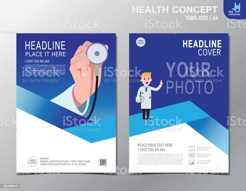 e9914420b6ed Banner panfleto folheto modelo de layout. Close-up. Estetoscópio de médico  cardiologista segurar