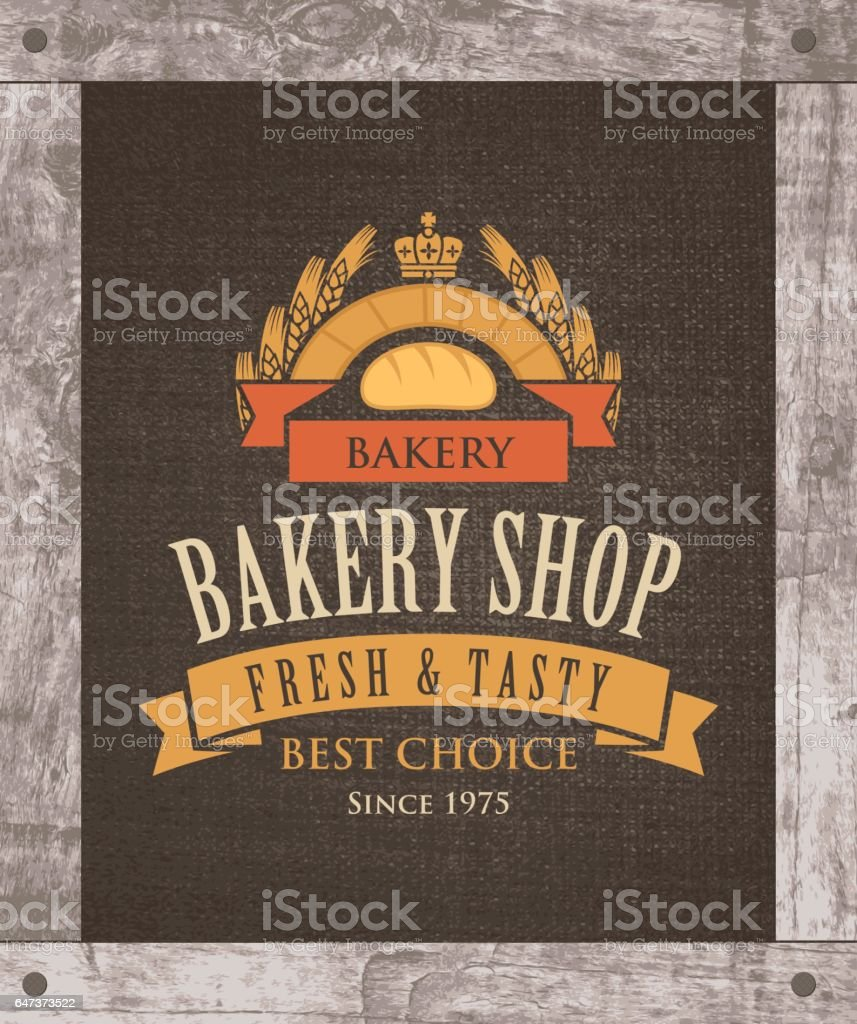 banner for bakery shop with loaf and ears vector art illustration