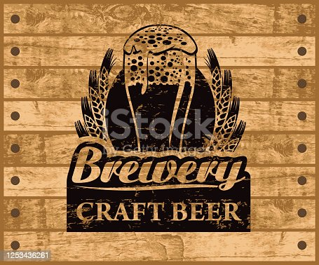 istock banner for craft beer on a wooden background 1253436261