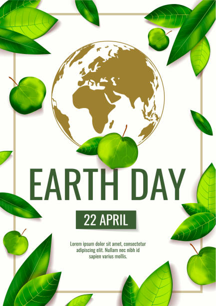 Banner for Earth Day, World Environment Day with globe and fresh green leaves. Ecology, environment safety concept. Banner for Earth Day, World Environment Day with globe and fresh green leaves. Ecology, environment safety concept. A4 Vector illustration for poster, banner, card, placard, cover, flyer. earth day stock illustrations
