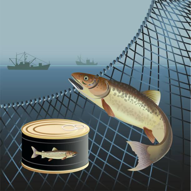 ilustrações de stock, clip art, desenhos animados e ícones de banner for marine products - aquacultura