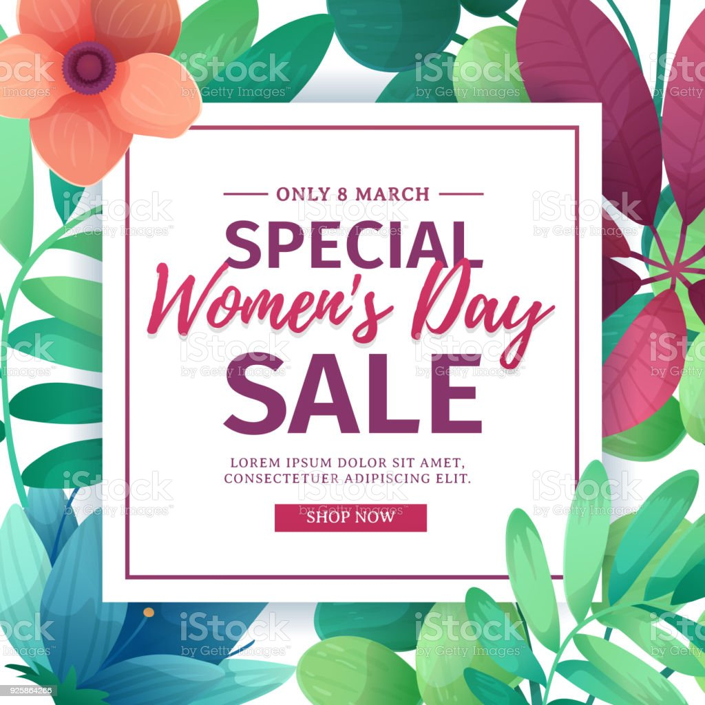 Banner for sale international happy womens day on flower background banner for sale international happy womens day on flower background flyer for march 8 with izmirmasajfo