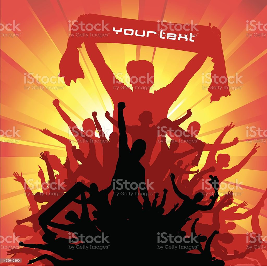 Banner for sport and concert vector art illustration