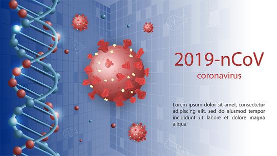banner for the design of the outbreak of the epidemic 2019 nCoV coronavirus