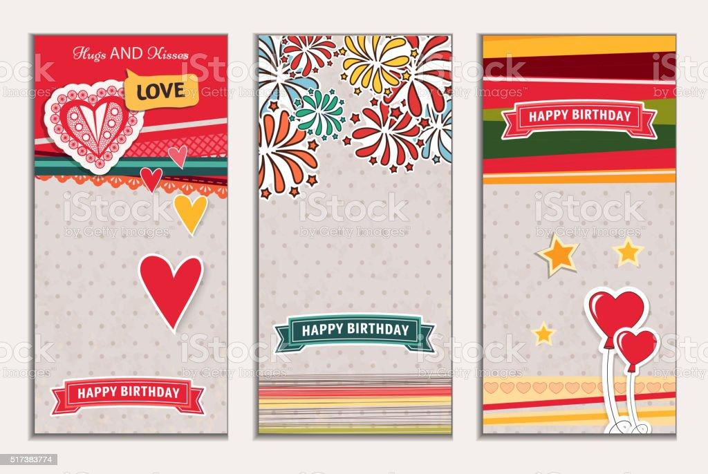 Glücklich Geburtstag Banner Stock Vektor Art und mehr Bilder von ...