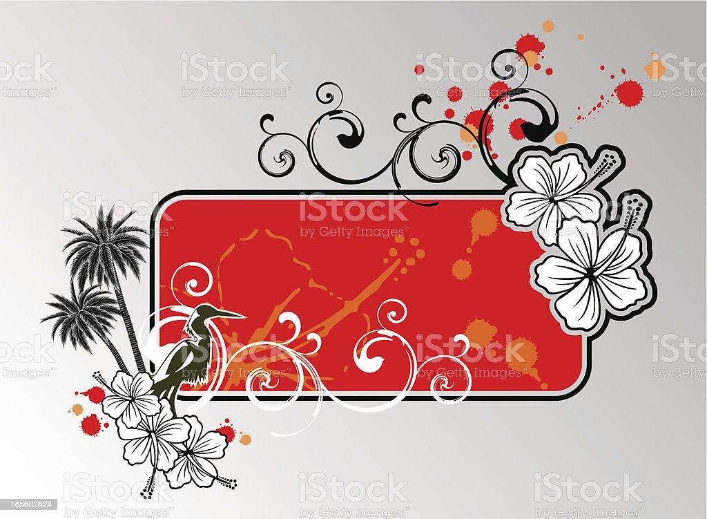 banner hibiscus royalty-free stock vector art