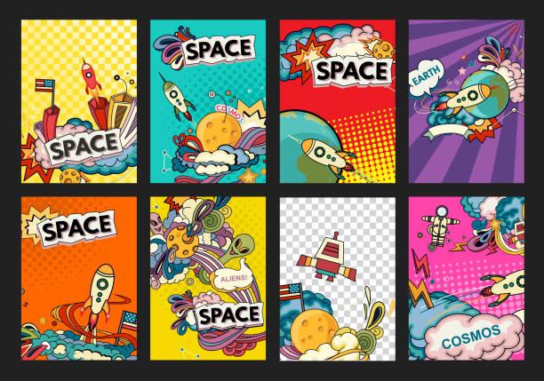 Banner illustration of cosmos vector art illustration