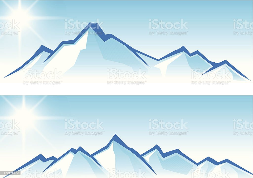 Banner image of abstract mountain range vector art illustration