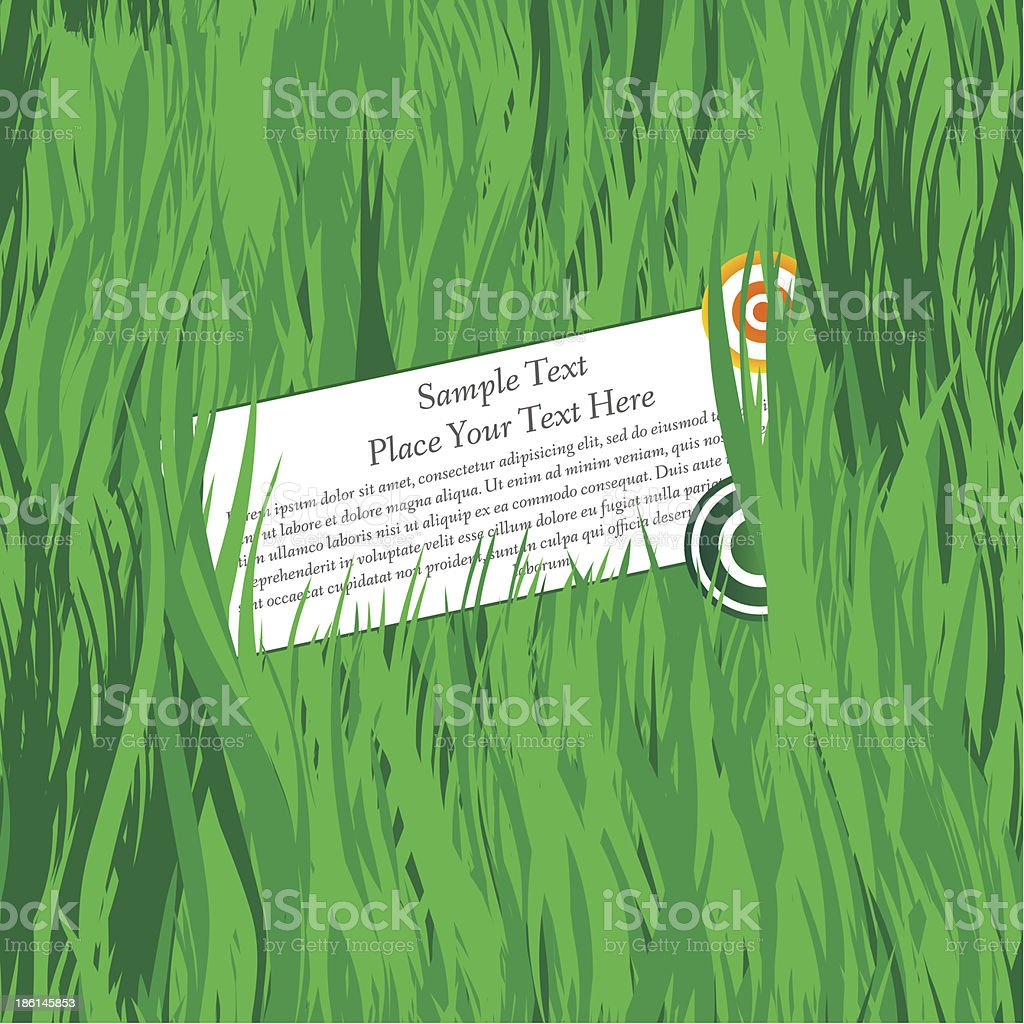 Banner in the grass. royalty-free stock vector art
