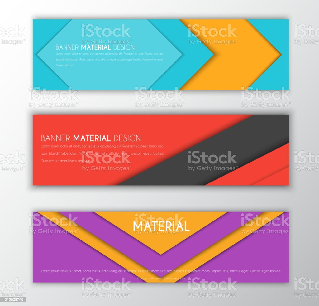 Banner in the style of the material design - ilustración de arte vectorial