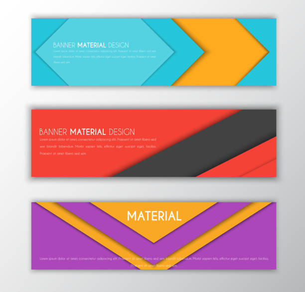 Banner in the style of the material design vector art illustration