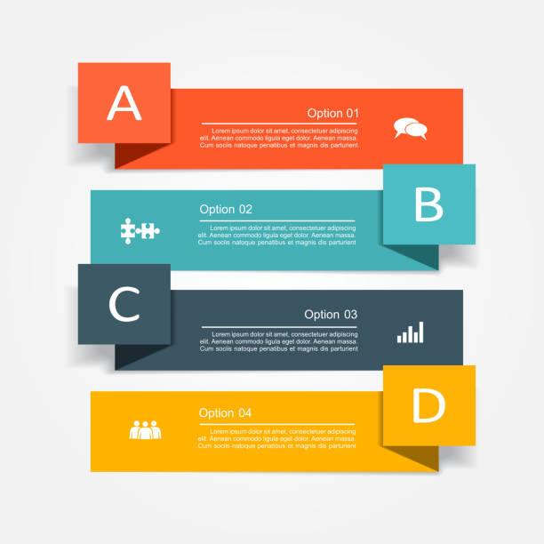 baner grafika informacyjna szablon projektu. ilustracja wektorowa - spinacz artykuł biurowy stock illustrations