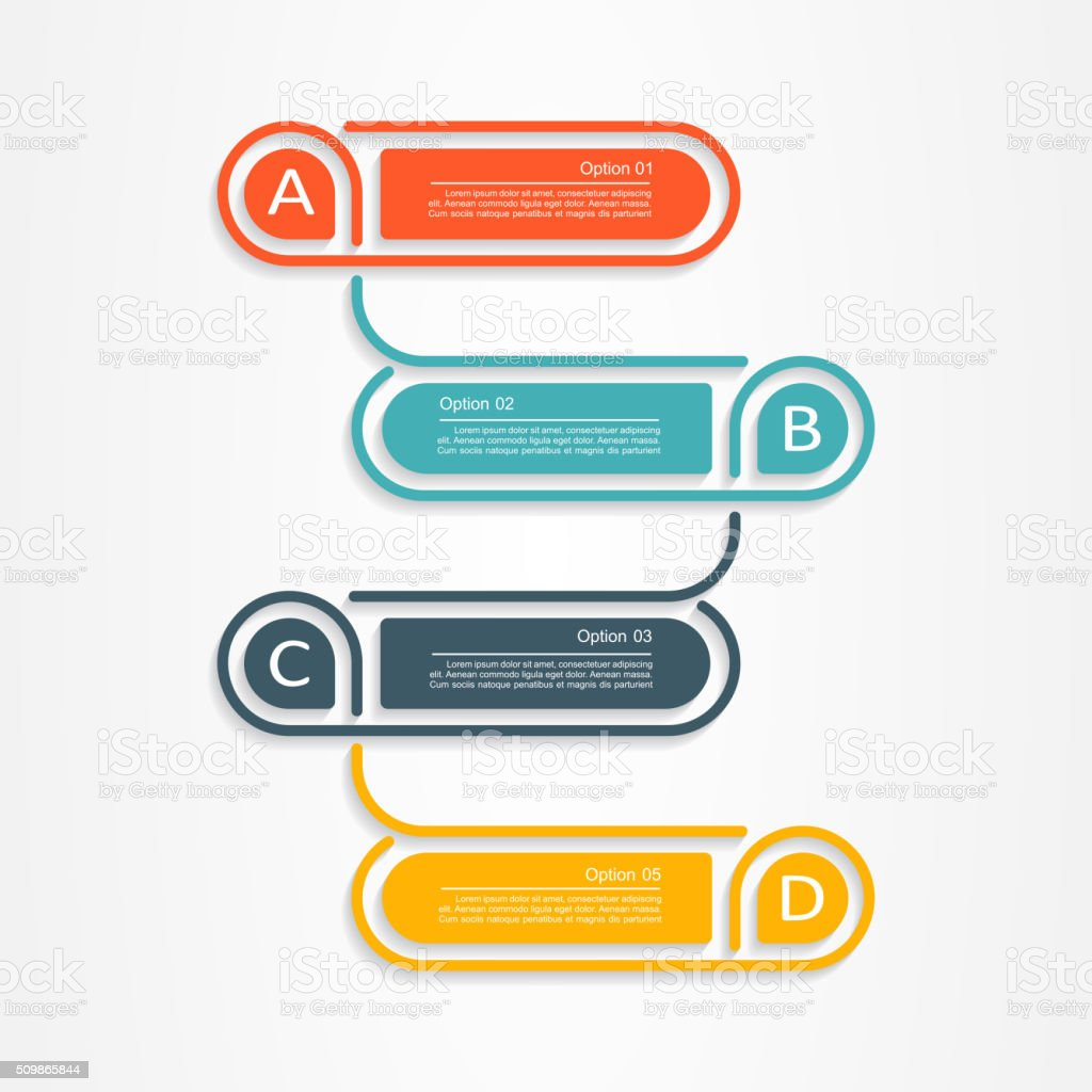 Banner infographic design template. Vector illustration vector art illustration