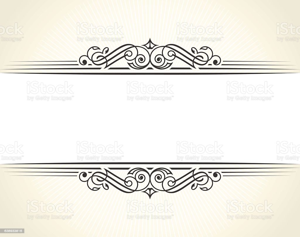 Banner islam ethnic design white invitation vintage label frame banner islam ethnic design white invitation vintage label frame blank royalty free banner stopboris Choice Image