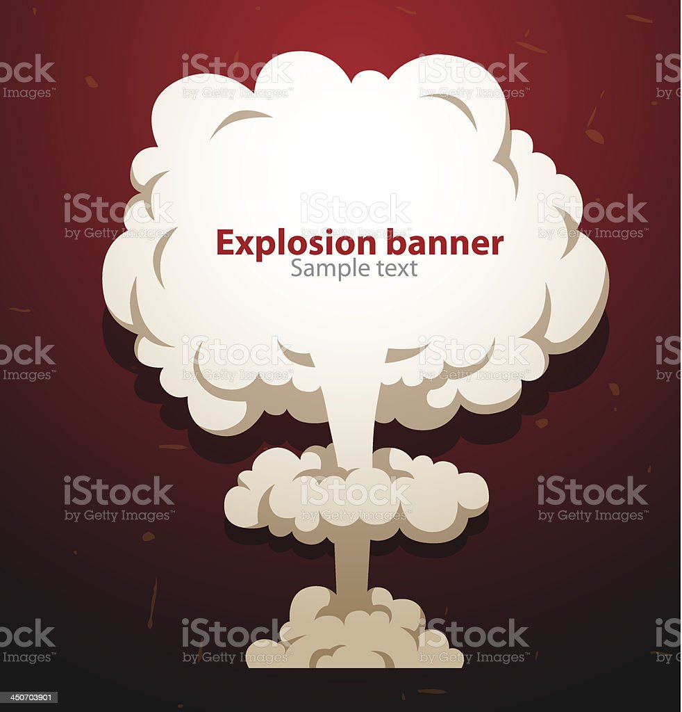 Banner nuclear mushroom royalty-free banner nuclear mushroom stock vector art & more images of abstract