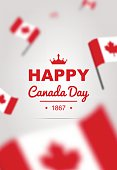 Banner of design elements for Canada Day 1st of July.