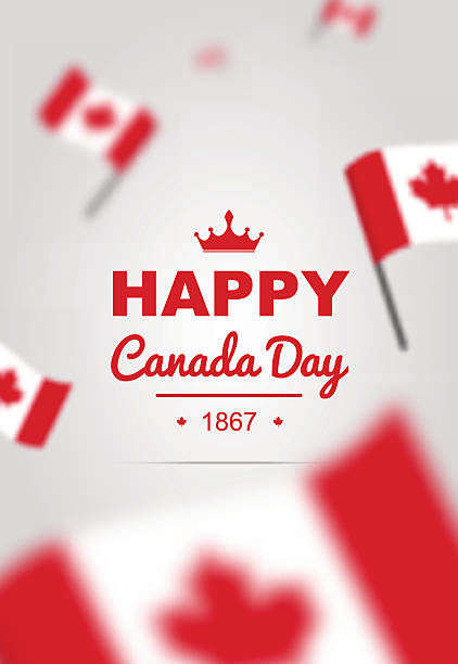 banner of design elements for canada day 1st of july. - canada day stock illustrations