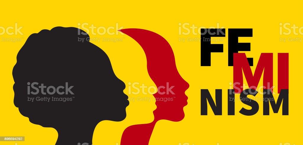 Bannière du féminisme - Illustration vectorielle