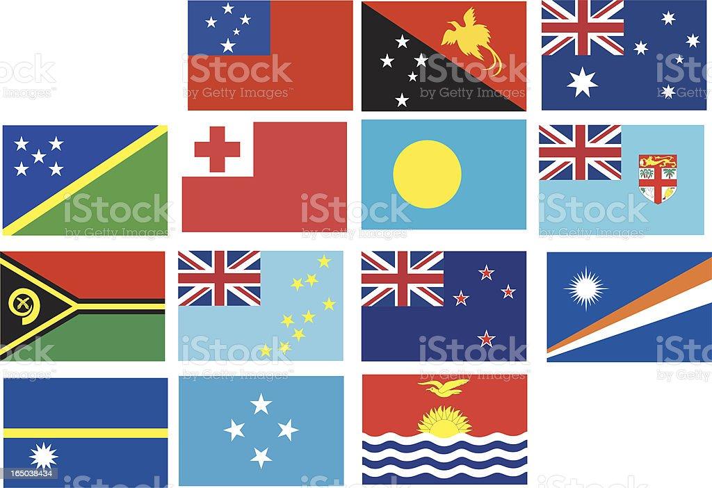 Banner of Oceania royalty-free stock vector art