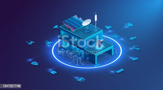 istock Banner of Smart Home technology. The building consists of numbers and is connected by icons of household smart devices. Intelligent home management system 1347327746