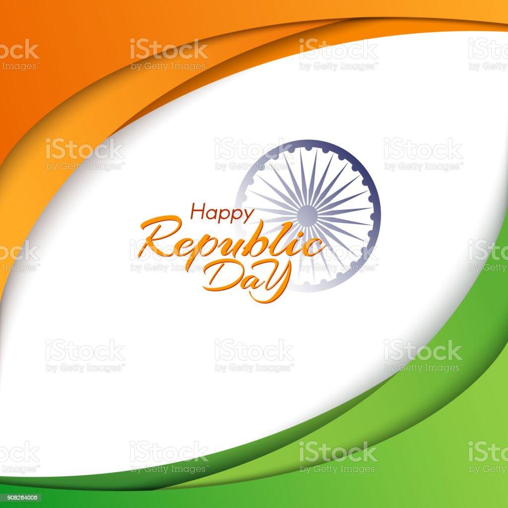 Banner De Feliz Día De La República De India Plantilla Con Texto Y ...