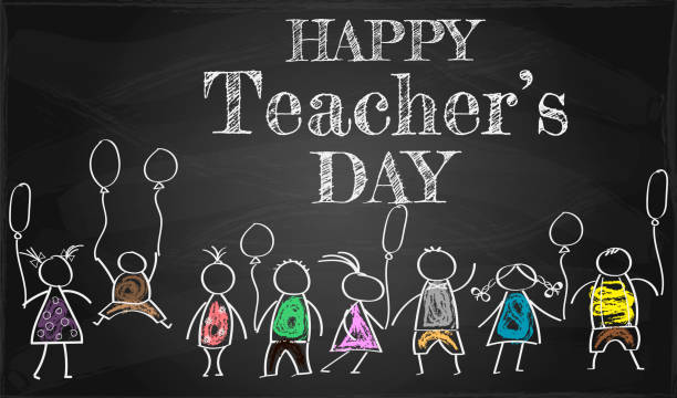 banner or poster for happy teacher's day with nice and creative - thank you background stock illustrations