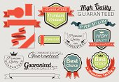 Banner Ribbon labels tags Elements