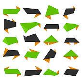 Banner ribbon vector set , vector illustration