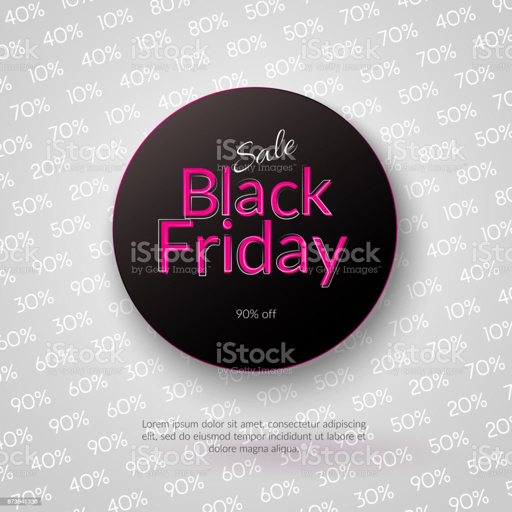 Banner Sale Black Friday 90 Off Poster For Festive Advertising Promotions And Christmas Sales Vector Stock Illustration Download Image Now Istock
