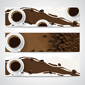 banner set coffee concept