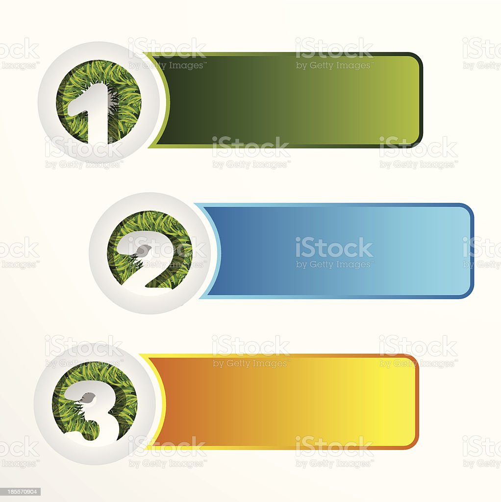 banner set of 1 2 3 with grass royalty-free banner set of 1 2 3 with grass stock vector art & more images of abstract