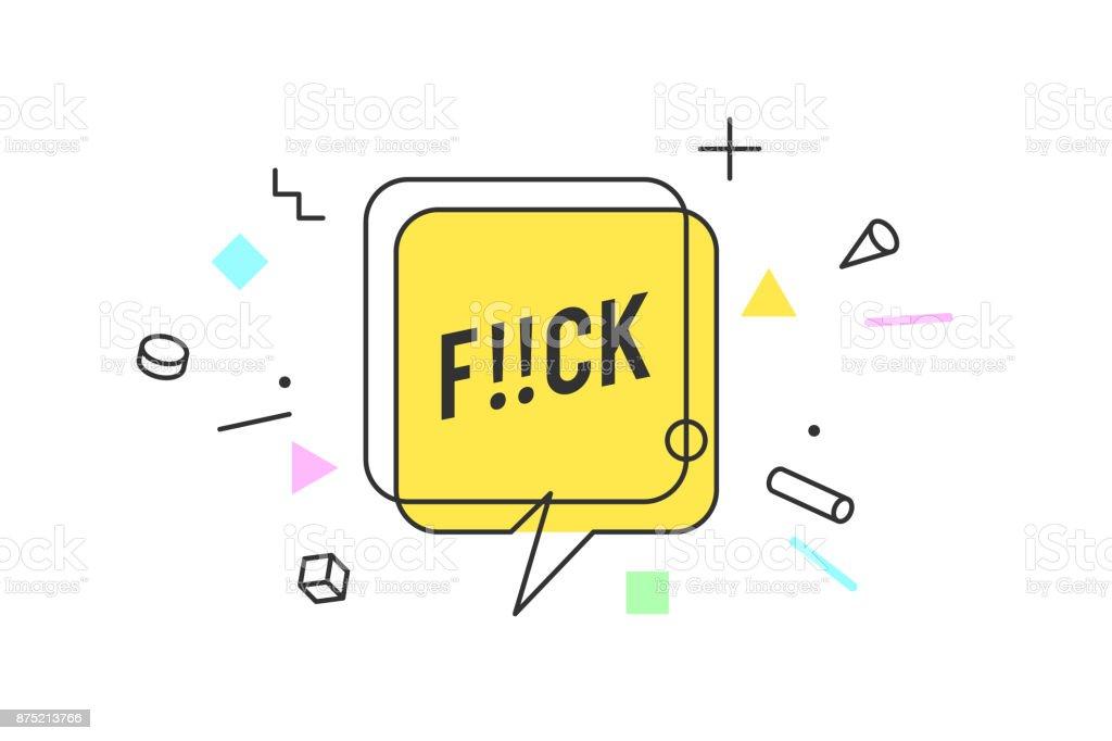 Banner, speech bubble, poster vector art illustration
