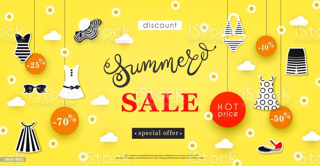 Summer Clothing Banners Sale Item Banners