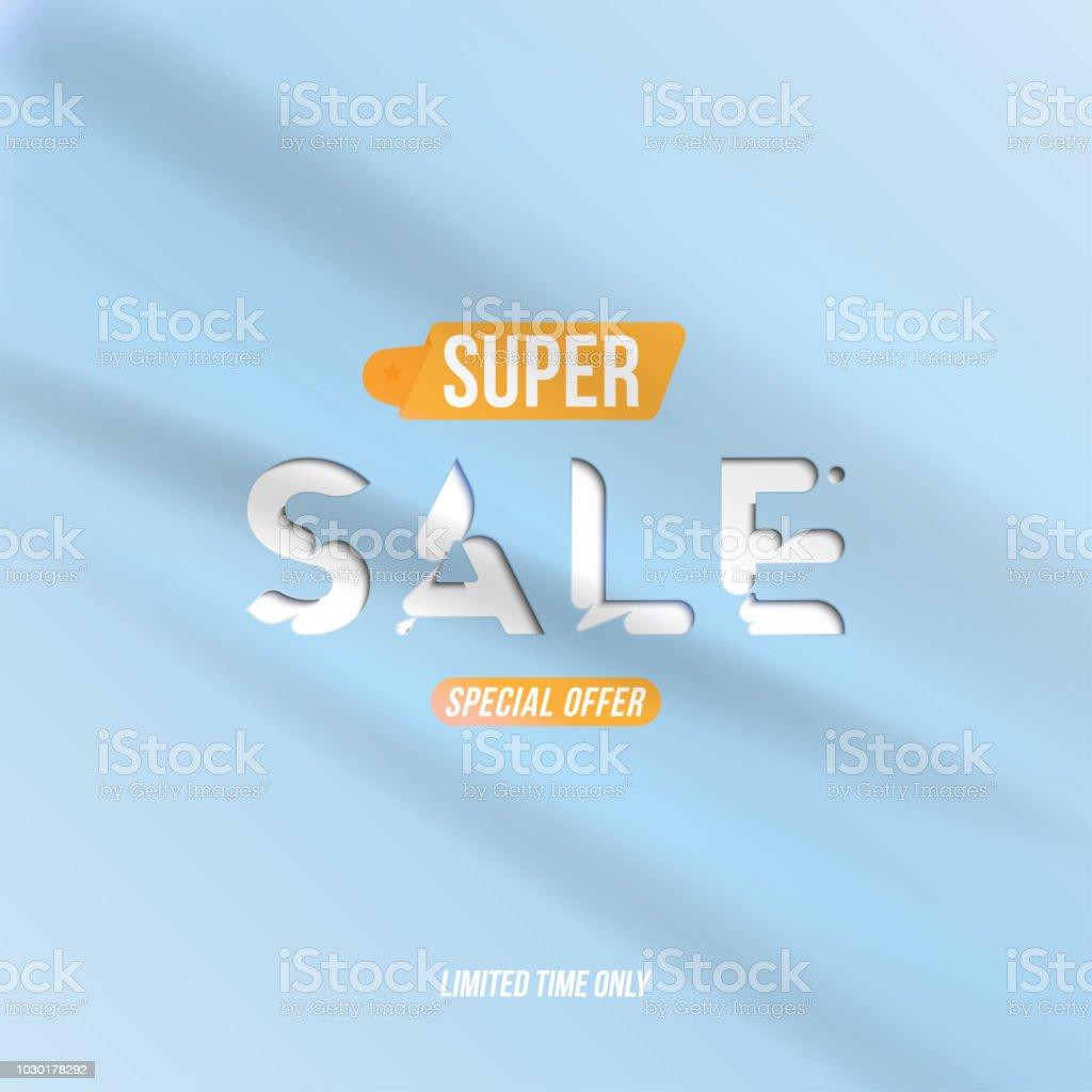 Bannersupersale Mit Speziellen Angebot Vorlage Für Design Werbung