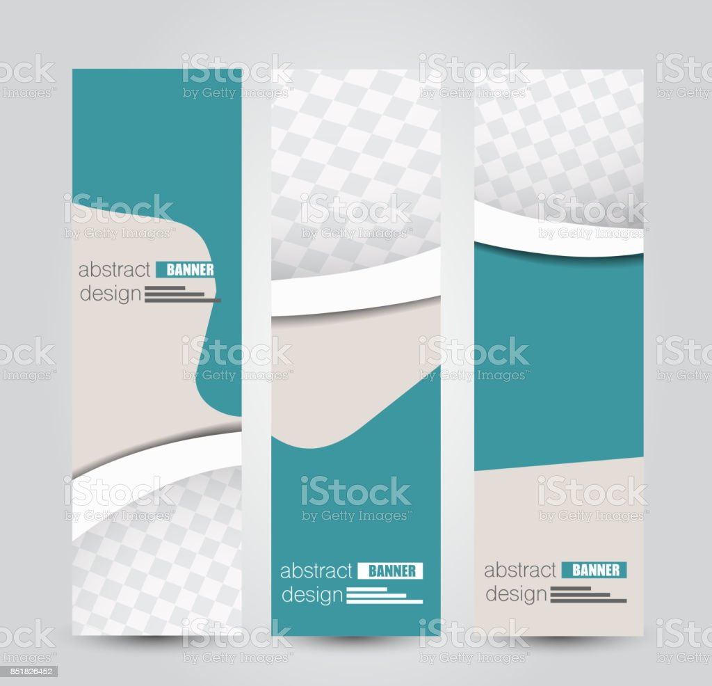 Banner template. Abstract background for design,  business, education, advertisement. vector art illustration