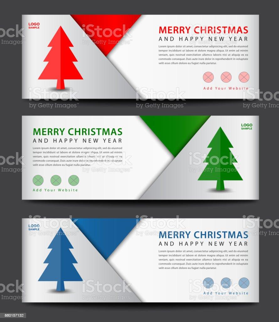 Feliz Navidad Plantilla De La Bandera Anuncio Diseño De Flyer ...