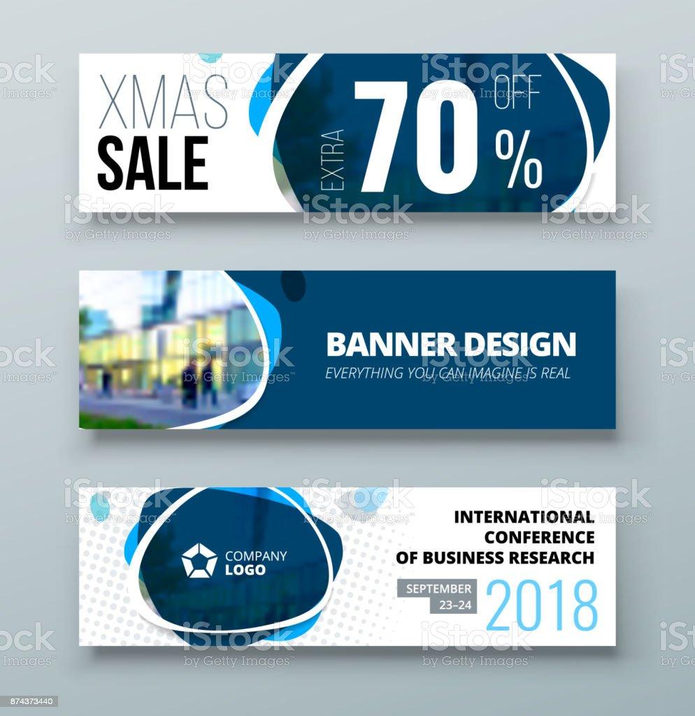 Ilustración de Diseño De La Plantilla Del Banner Concepto De ...