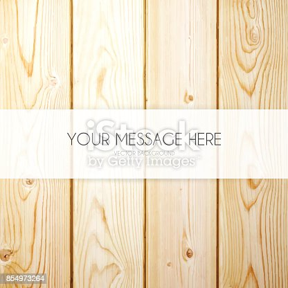 Banner Template On Wooden Background Stock Vector Art & More Images ...