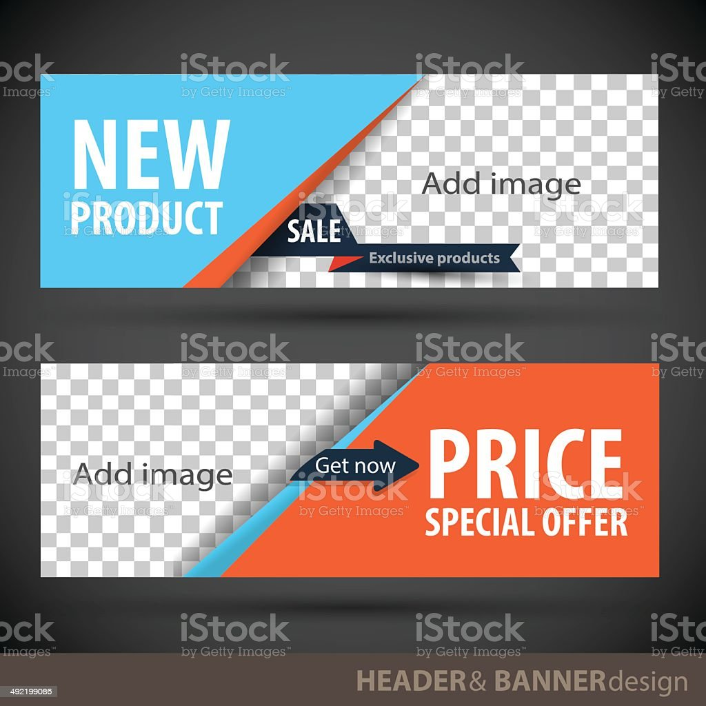 Banner template vector art illustration