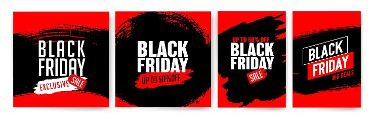 Banner templates for black friday. Promotion banner, offer, sale.