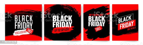 Banner Templates For Black Friday Promotion Banner Offer Sale - Arte vetorial de stock e mais imagens de A Escada do Sucesso