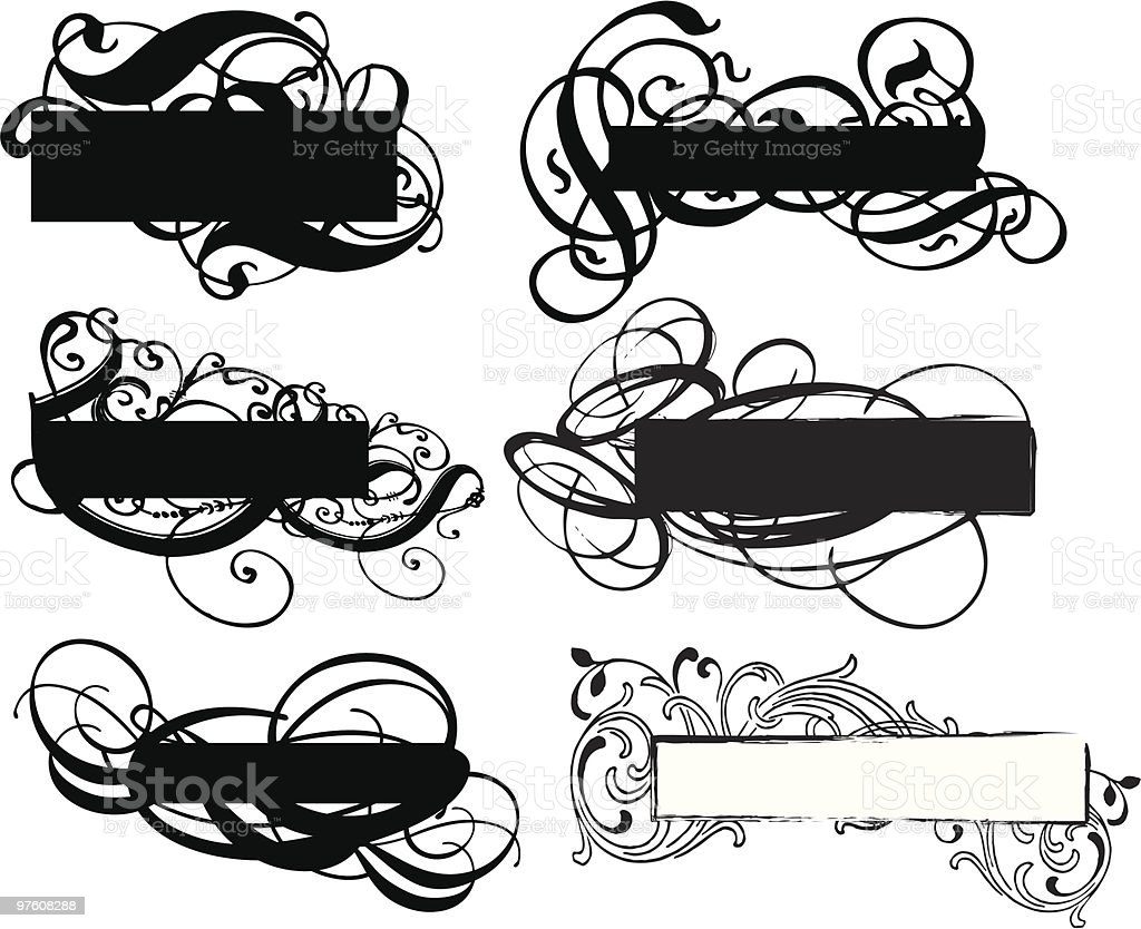 banner templates royalty-free banner templates stock vector art & more images of black color