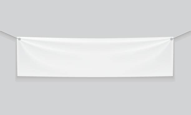 ilustrações de stock, clip art, desenhos animados e ícones de banner - lona têxtil