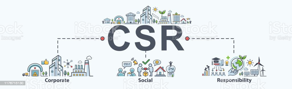 Csr Banner Web Icon For Business And Organization ...