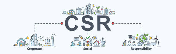 CSR Banner web icon for business and organization, Corporate social responsibility and giving back to the community. CSR Banner web icon for business and organization, Corporate social responsibility and giving back to the community. corporate responsibility stock illustrations