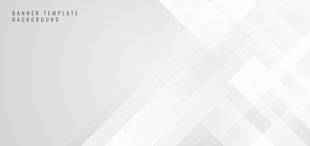 Banner web template abstract white square shape with futuristic concept background